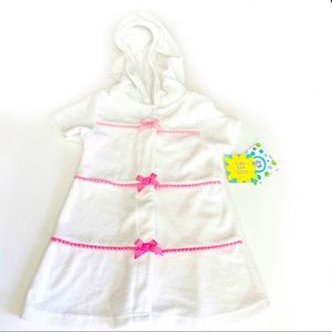 Little Me Baby Girls Swim Cover-up Terry 18Mos.